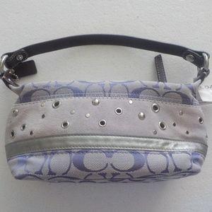 Coach Small Lilac Canvas/Suede Bag